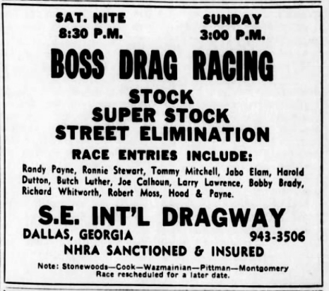 Georgia Drag Strip History