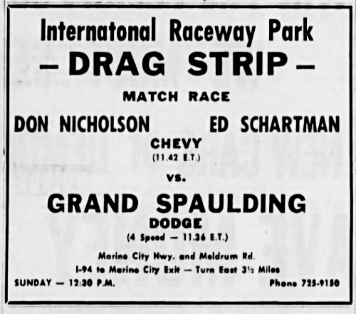 Michigan Drag Strip History